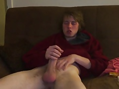 stoned twink stroke his nice hot dick